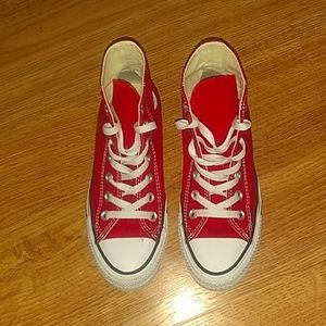Red converse size 4 us boys